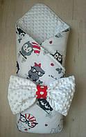 """Конверт-одеяло для новорожденного """"Совы"""""""