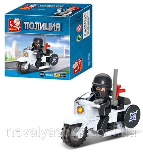 Конструктор Sluban Полиция Полицейский Мотоцикл, 24 дет., M38-B0325, 002816
