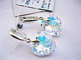 Серьги в форме сердца с кристаллами Swarovski, фото 2
