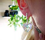 Серьги в форме сердца с кристаллами Swarovski, фото 4