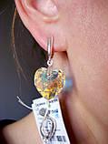 Серьги в форме сердца с кристаллами Swarovski, фото 3