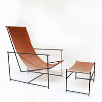 Кресло шезлонг из металла в стиле лофт