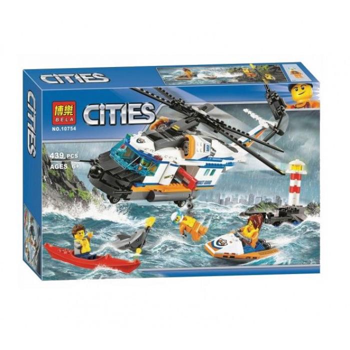 Конструктор Bela 10754 City Сверхмощный спасательный вертолет 439 дет (аналог LEGO City 60166)