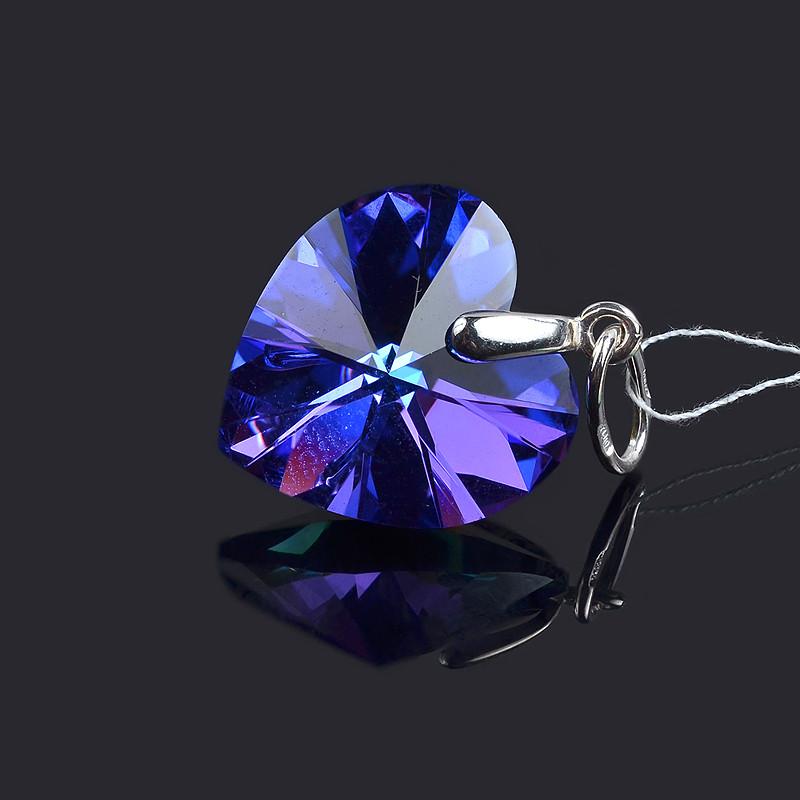 Подвеcка Сердце с кристаллом Сваровски
