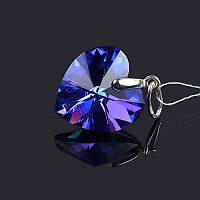 Подвеcка Сердце с кристаллом Сваровски, фото 1