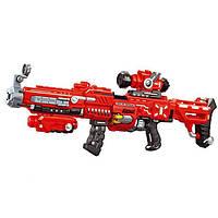 """Игрушечное оружие автомат бластер (аналог Нерф NERF), звуковые и световые эффекты """"QUNXING TOYS"""". FJ552"""