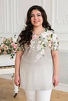 Красивая летняя блуза-туника Большие размеры