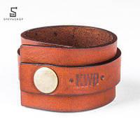 Кожанный браслет Knockwood - Idol коричневый