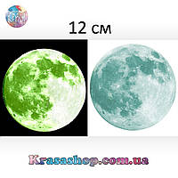 Светящаяся наклейка на стену или потолок Луна 12 см, фото 1