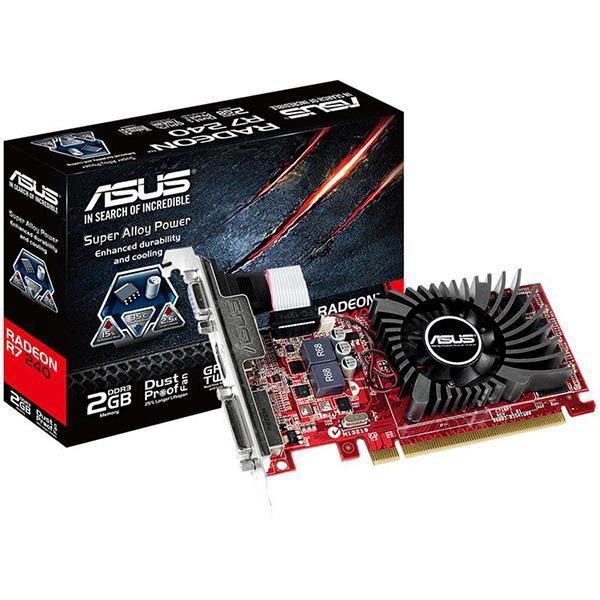 "Видеокарта ASUS R7 240 Low profile 2Gb 128bit DDR3 ""Over-Stock""  Б/У"