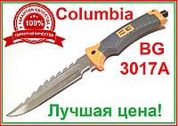 """Нож охотничий в чехле фиксированный клинок стеклобой пила открывалка """"Columbia"""" BG 3017А M151 32х3,5х18х14"""