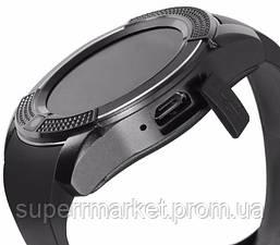 Смарт - часы SMART WATCH V8 black, MicroSIM Bluetooth microSD, фото 3