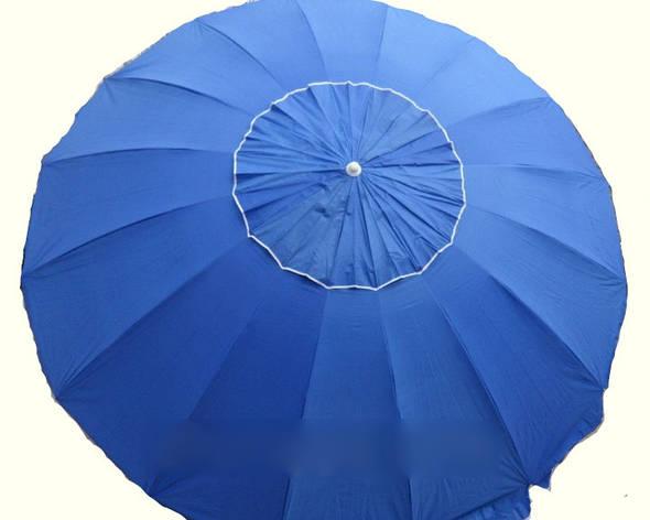 Зонт пляжний 3.5 м з клапаном 16 спиць, фото 2