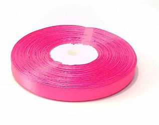 Лента атласная 1 см розовая 46 м флористическая