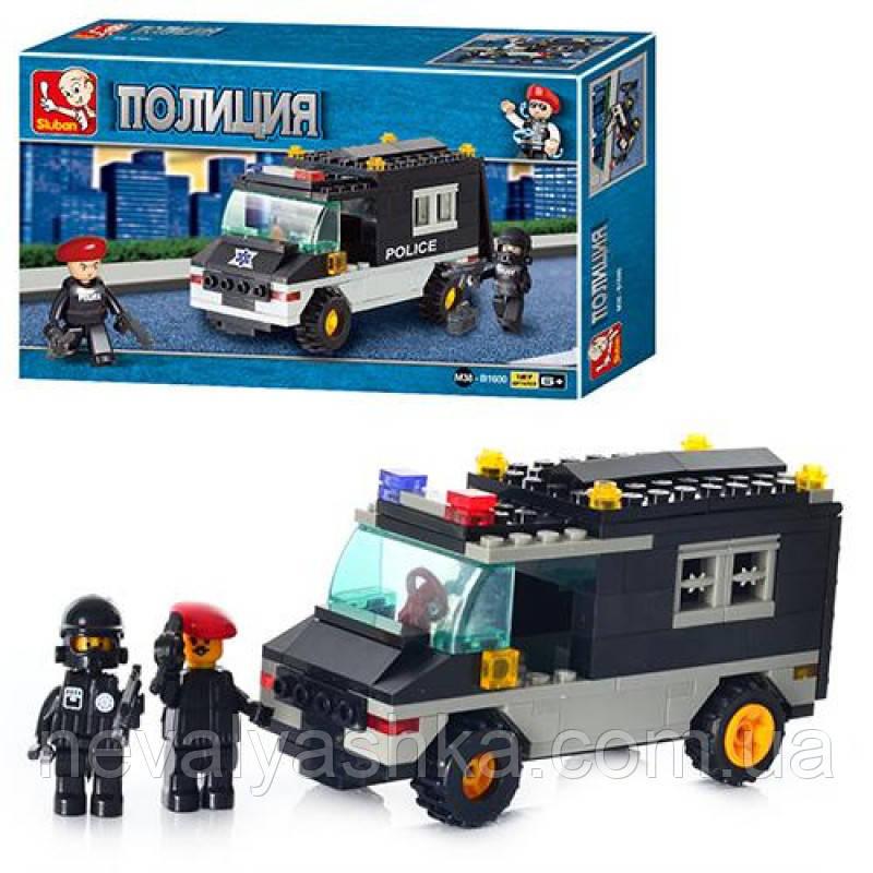 Конструктор Sluban Полиция Патрульный Автомобиль, 127 дет., M38-B1600, 002686