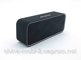 Беспроводная колонка SPS K31+BT (в стиле Xiaomi Mi Square Box) с FM/Bluetooth/MP3/USB/microSD, Black+gray, фото 3