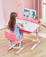 Комплект парта большая и стульчик Evo-kids Evo-19, 90 см, (с лампой и подставкой),