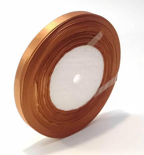 Лента атласная 1,6 см коричневая 50 ярд. декоративная