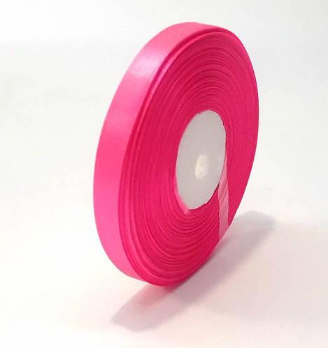 Лента флористическая атласная 1,6 см розовая 50 ярд