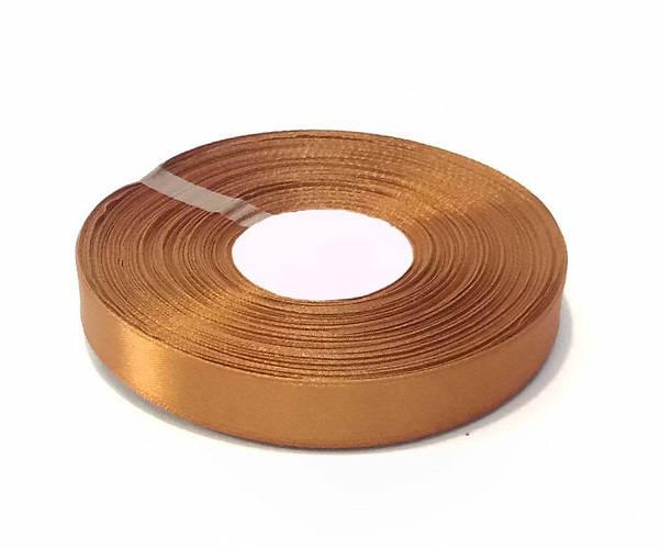 Лента атласная 2 см коричневая 50 ярд.