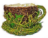 Декоративная чашка для цветов (8132-1) 9х12 см