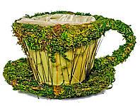 Декоративная чашка для цветов (8132-2) 9х12 см