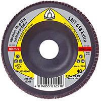 Круг лепестковый тарельчатый Klingspor SMT 618 p40 125*22,23мм