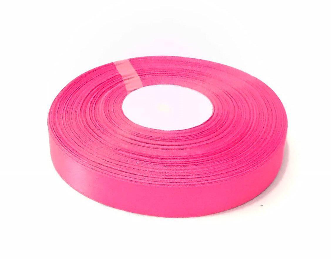 Лента атласная 2 см розовый 50 ярд.
