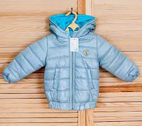 Демисезонная курточка для мальчика 86/92 (1-2 года) голубая