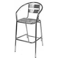 Барный алюминиевый стул с подлокотниками