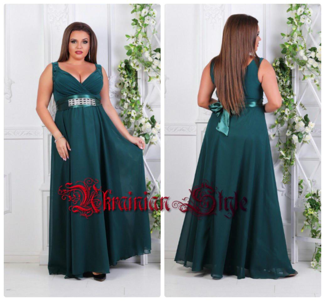 69ca81b729e Однотонное полубатальное вечернее платье в пол. 7 цветов!