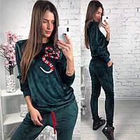 """Женский модный велюровый костюм """"Змея"""" (2 цвета), фото 1"""