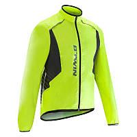 Куртка мужская велосипедная, ветрозащитная 500 Btwin салатовая