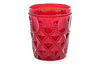 Набор стаканов праздничных Рубин 3шт подарок в коробке