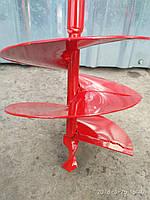 Профессиональный земляной бур - шнековый,режущий нож -сталь 65Г
