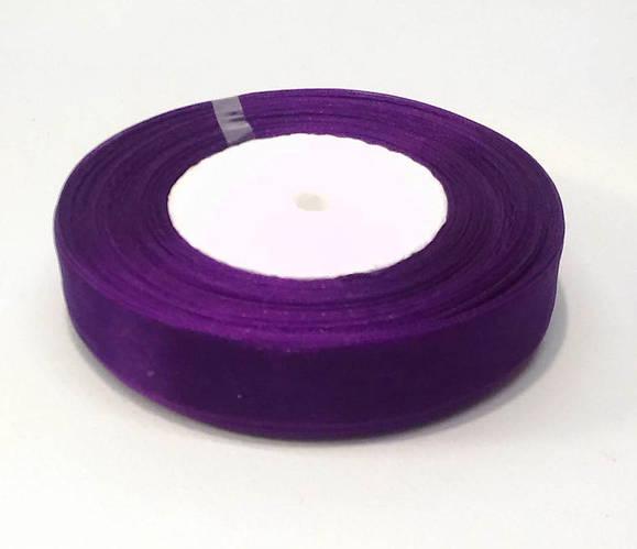 Ленты из органзы 2 см фиолетовая 50 ярд.