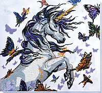 Набор для вышивки бисером Единорог (33 х 31 см) Абрис Арт AB-570 e94590ec668ed