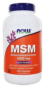 Хондропротектор NOW MSM 1000 mg 240 caps