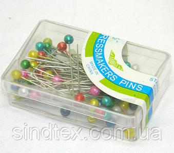 Булавки портновские (гвоздики с шариком) для шитья 38мм