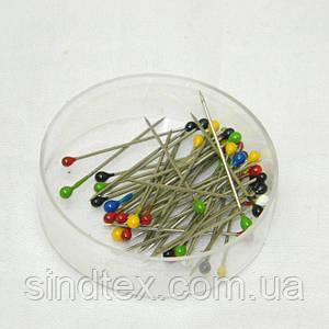 Булавки портновские (гвоздики с шариком) для шитья 25мм