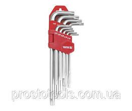 Набор удлиненных ключей TORX с отверстием T10H-T50H 9 ед. Yato YT-0512