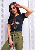 Женская футболка с вышивкой из пайеток спереди 101, фото 1