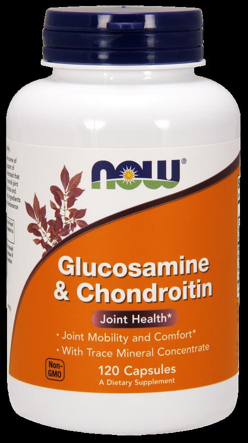 Хондропротектор NOW Glucosamine & Chondroitin 120 caps