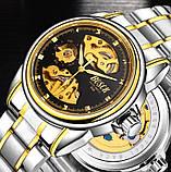 Мужские часы Bosck Механические с автоподзаводом, водонепроницаемые Black, фото 2