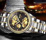 Мужские часы Bosck Механические с автоподзаводом, водонепроницаемые Black, фото 3