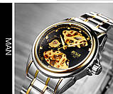 Мужские часы Bosck Механические с автоподзаводом, водонепроницаемые Black, фото 6
