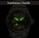 Мужские часы Bosck Механические с автоподзаводом, водонепроницаемые Black, фото 7