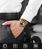 Мужские часы Bosck Механические с автоподзаводом, водонепроницаемые Black, фото 8