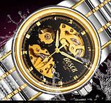 Мужские часы Bosck Механические с автоподзаводом, водонепроницаемые Black, фото 10