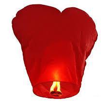 Небесний китайський ліхтарик, серце 85х85см